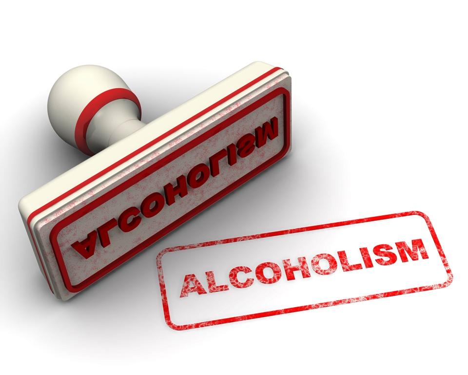 Alcoholism (алкоголизм). Печать и оттиск (Alcoholism. Seal and imprint)