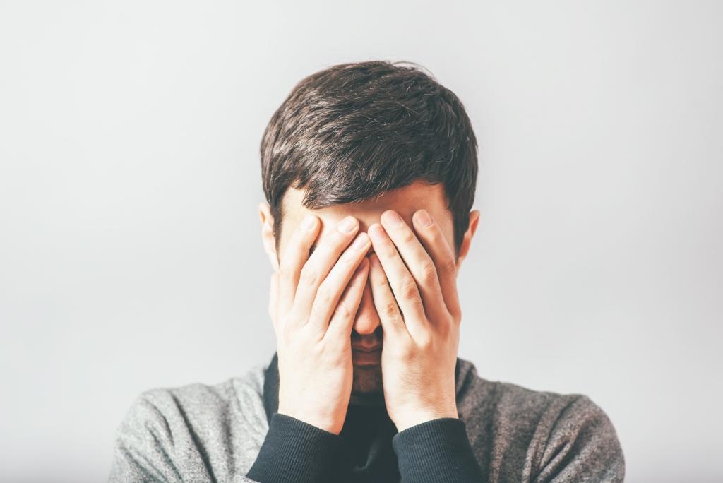 man in despair