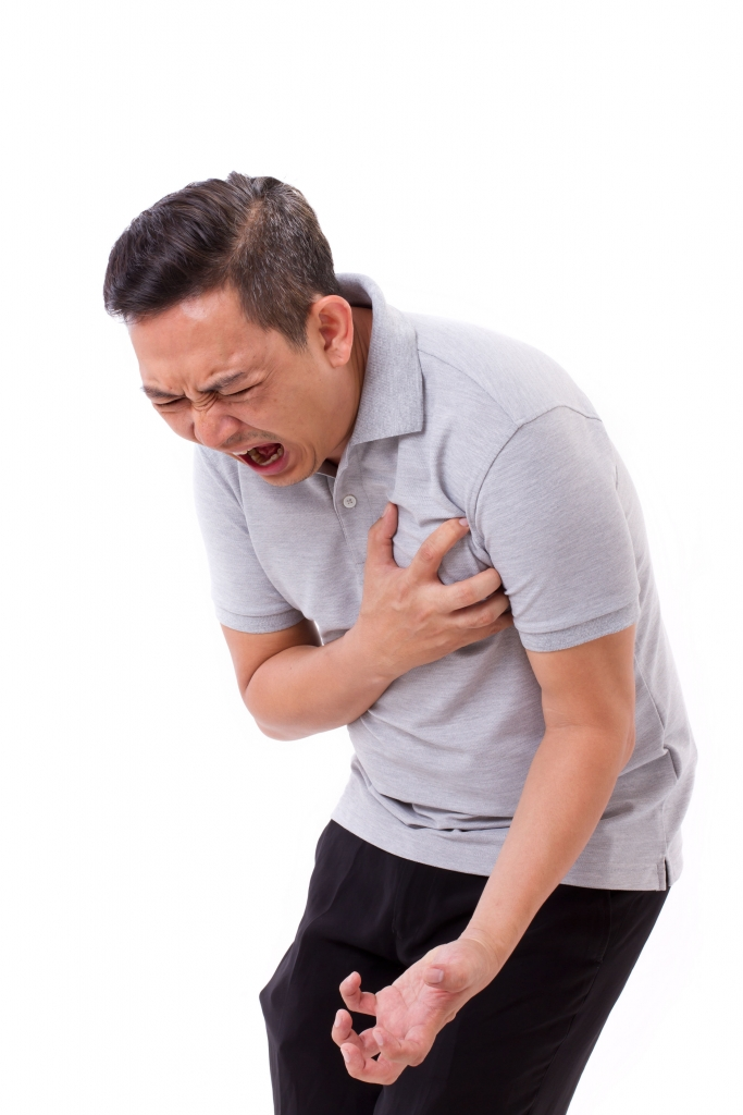 43223090 - sick man suffering from heart attack